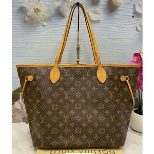 Neverfull MM Monogram Cherry Red Tote Bag (AR2125)